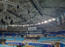 [김천]김천 실내체육관, LED 조명 교체 및 제트공조기 설치 훨씬 밝아졌어요!